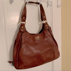 Coach Madison Maggie Brown Leather Hobo 14336